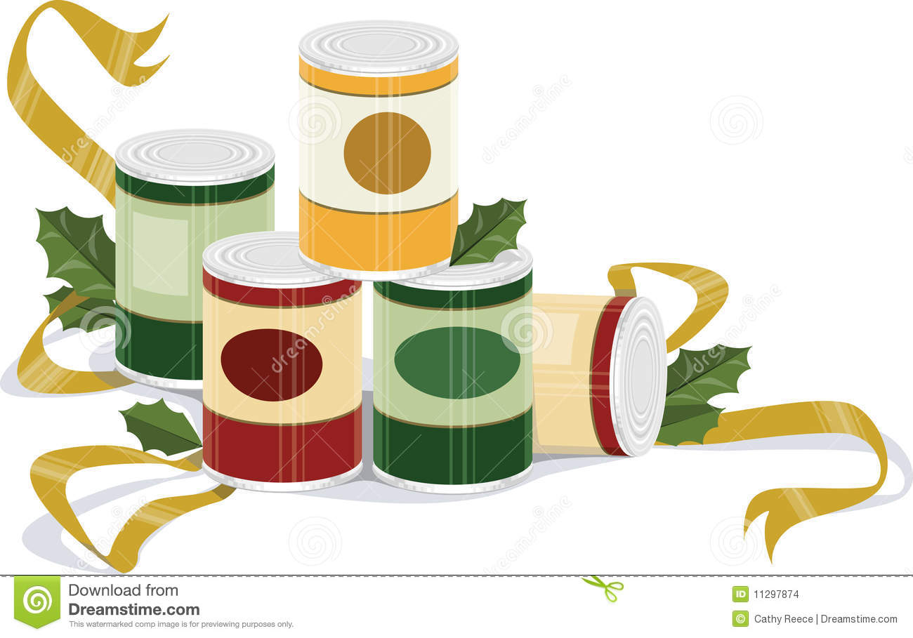 Holiday Canned Goods Stock Images.