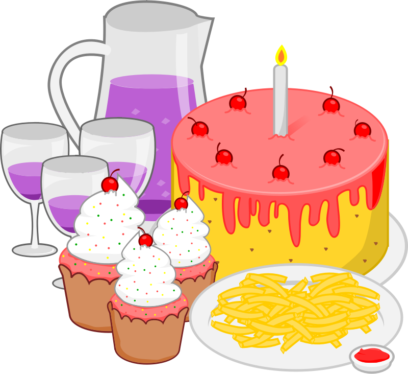 Holiday Party Food Clipart