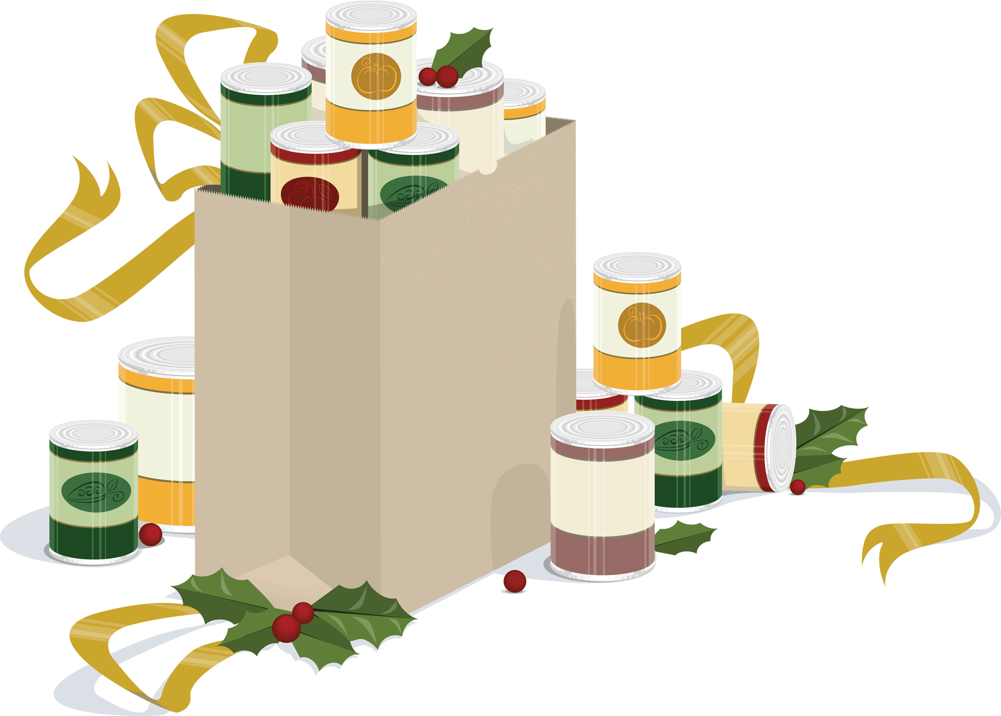 Pantry Food Drive Clipart.