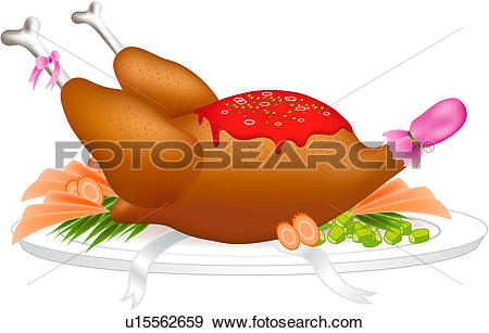 Clip Art of holiday, food, x.