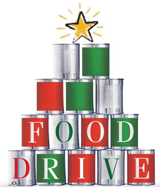 Holiday Food Drive Clipart.