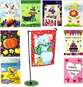 Amazon.com : Seasonal Holiday Garden Flags Set of 9.