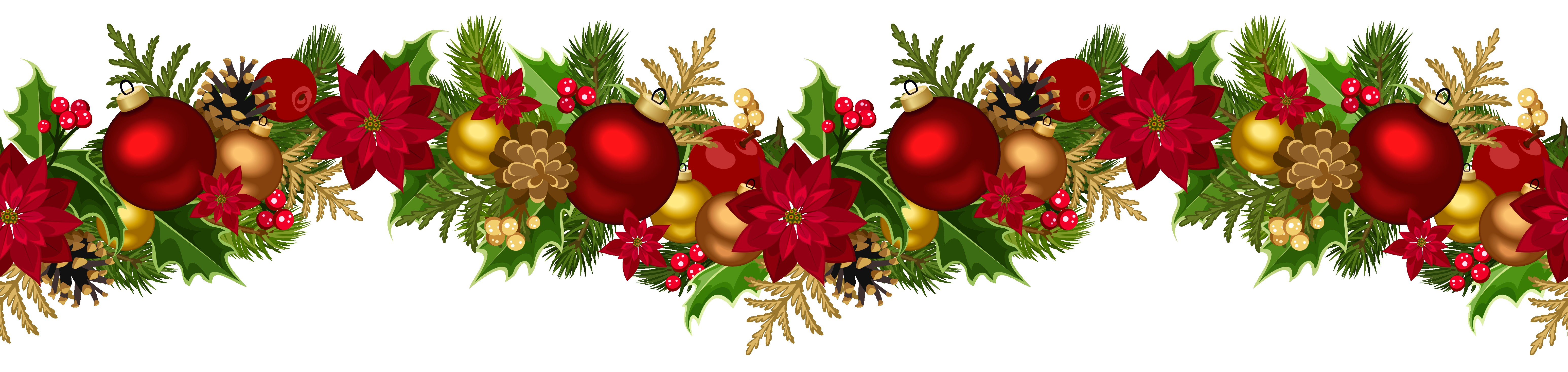 Holiday Garland Clip Art.