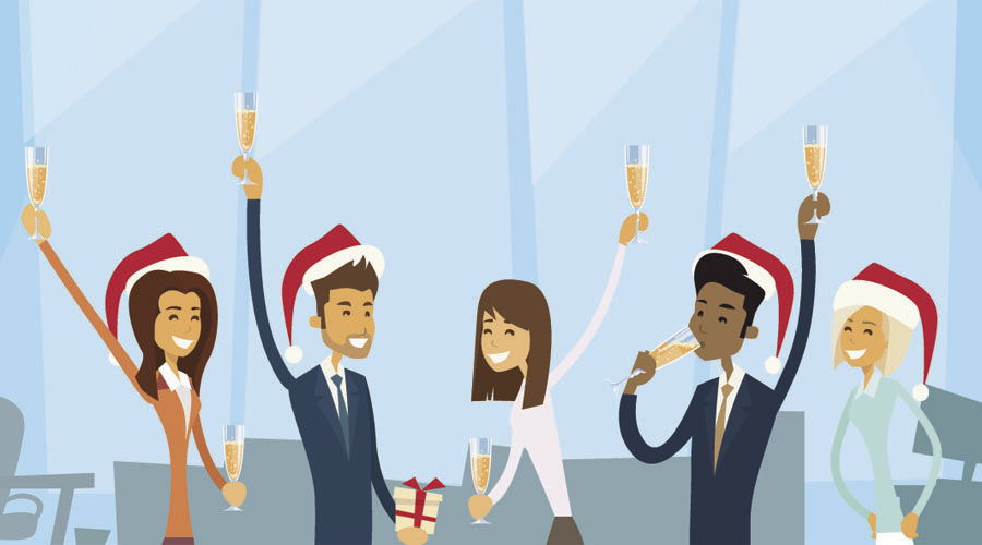 Heading to the company holiday gathering? Party like it's your job.