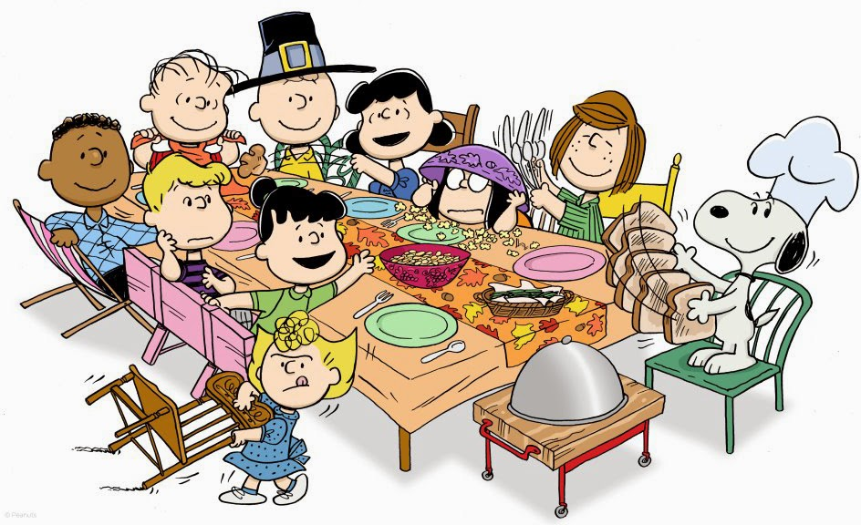 Thanksgiving Gathering Clipart.