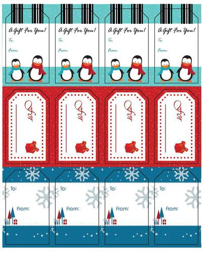 Assorted Holiday Gift Tags.