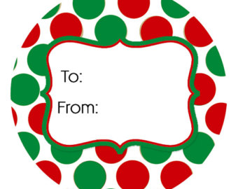 Holiday Gift Tag Clipart.
