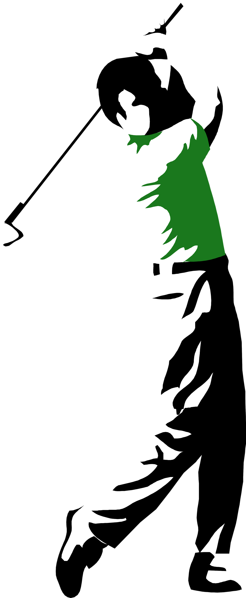 154 Golfing free clipart.
