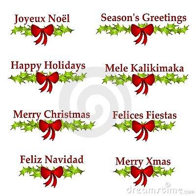 Christmas Greeting Logos Or Banners Stock Image.