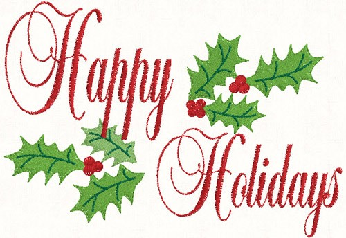 Holiday greetings clip art.
