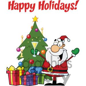 Holiday wishes clipart.