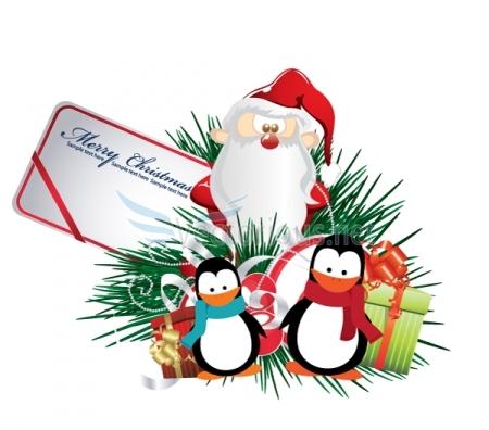 Christmas Holiday Greetings Clip Art.