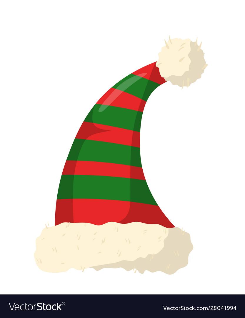 Christmas holiday hat flat.