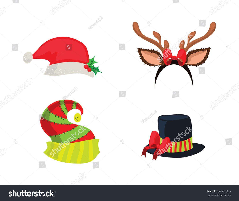 Holiday Hats Stock Illustration 248453995.