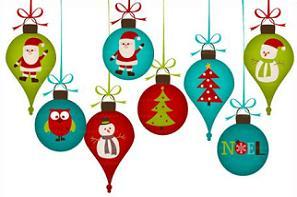 Holiday header ornaments image #5464.