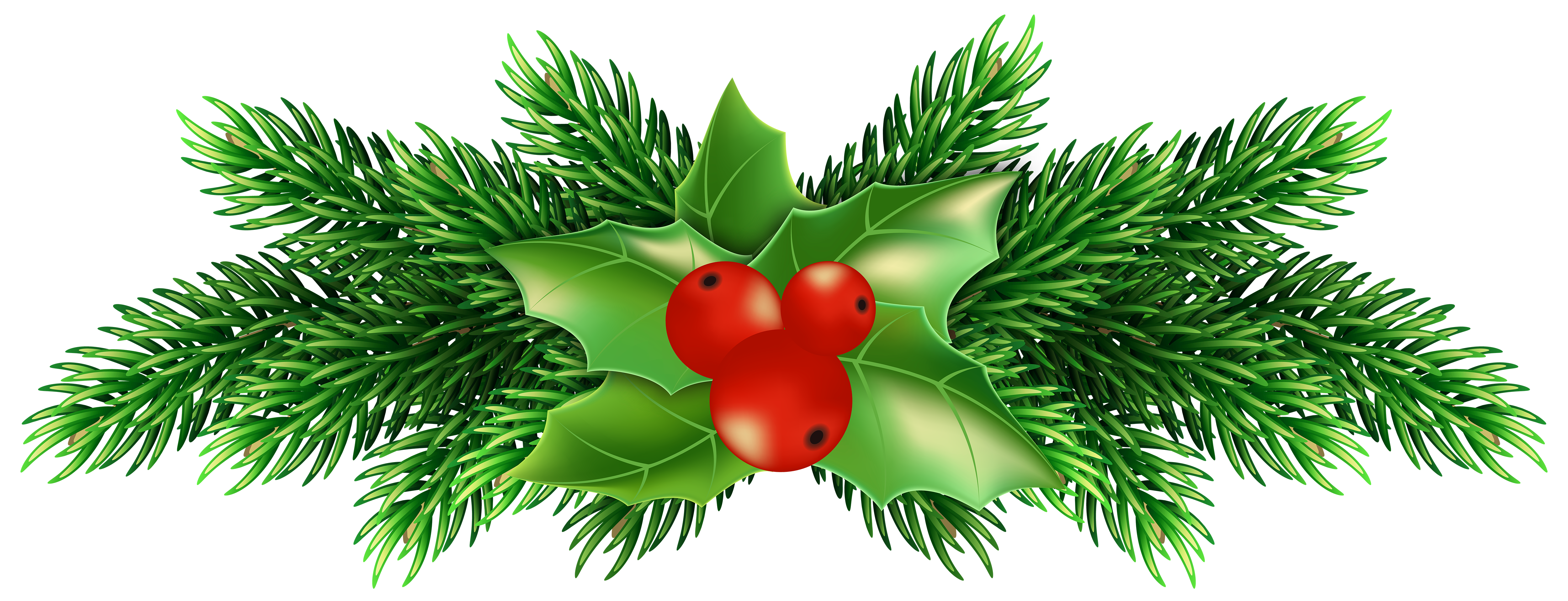 Free Christmas Holly Clipart.
