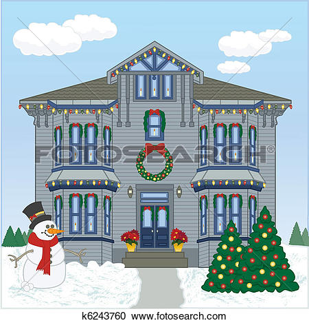 Clipart of Holiday House Day k6243760.