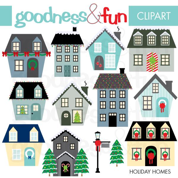 free christmas village clipart - photo #31