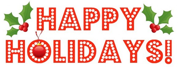 Holiday Happy Hour Clipart.