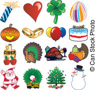 Holiday icon Clip Art Vector Graphics. 654,381 Holiday icon.