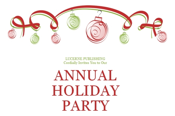 Elegant Holiday Party Clip Art.