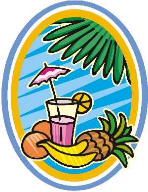 Tropical Holiday Clipart.