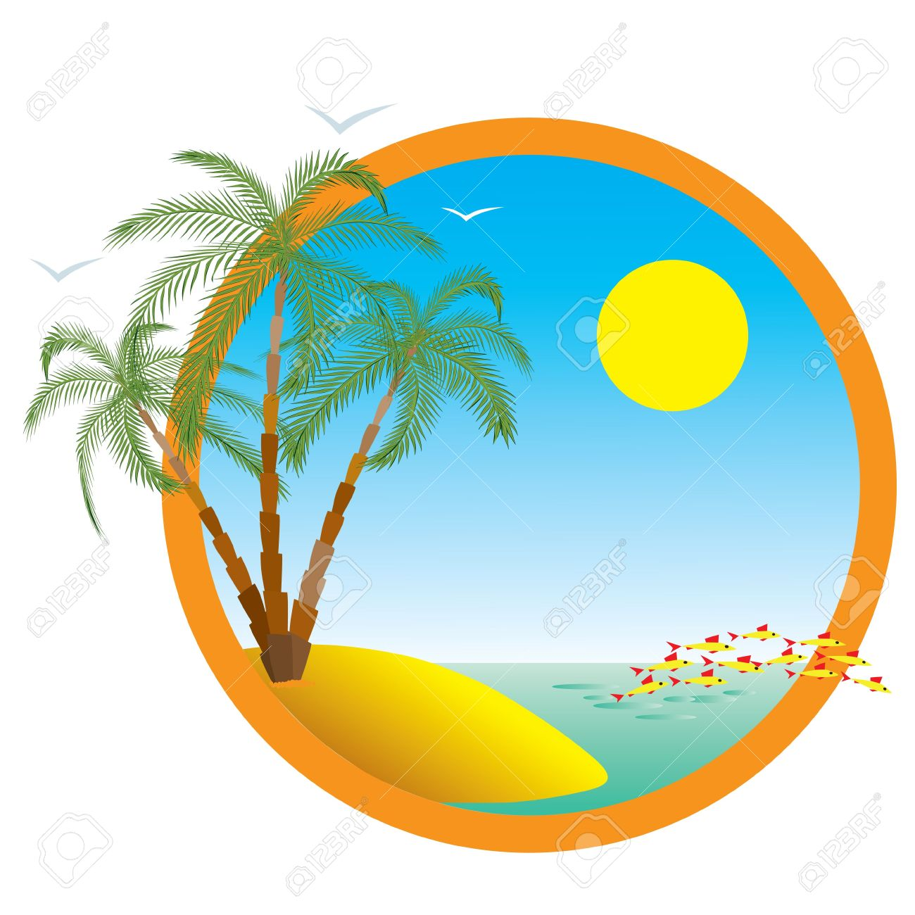 Summer Holiday On The Sea. Royalty Free Cliparts, Vectors, And.