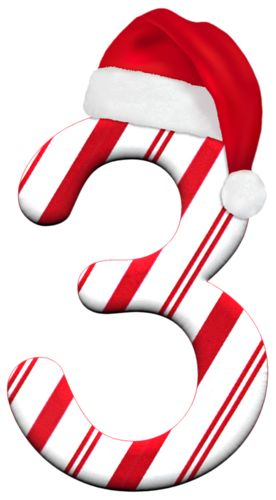 Holiday Numbers Clipart.