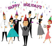 Work Holiday Party Clipart.