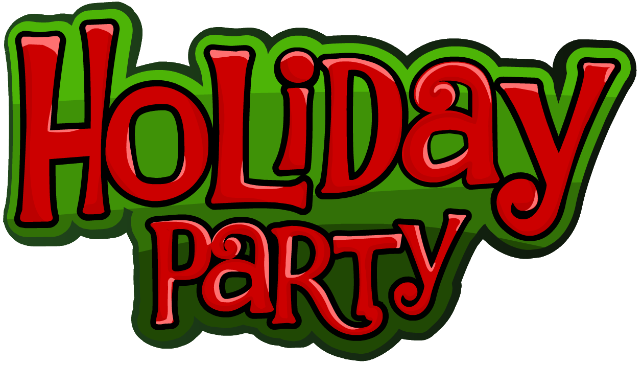 December Holiday Party Clipart.