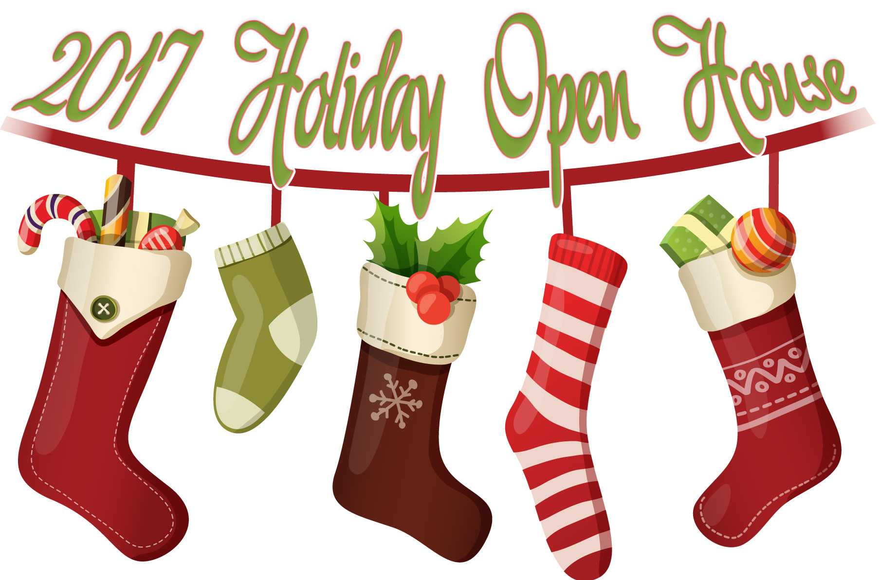 Holiday Open House Clipart.