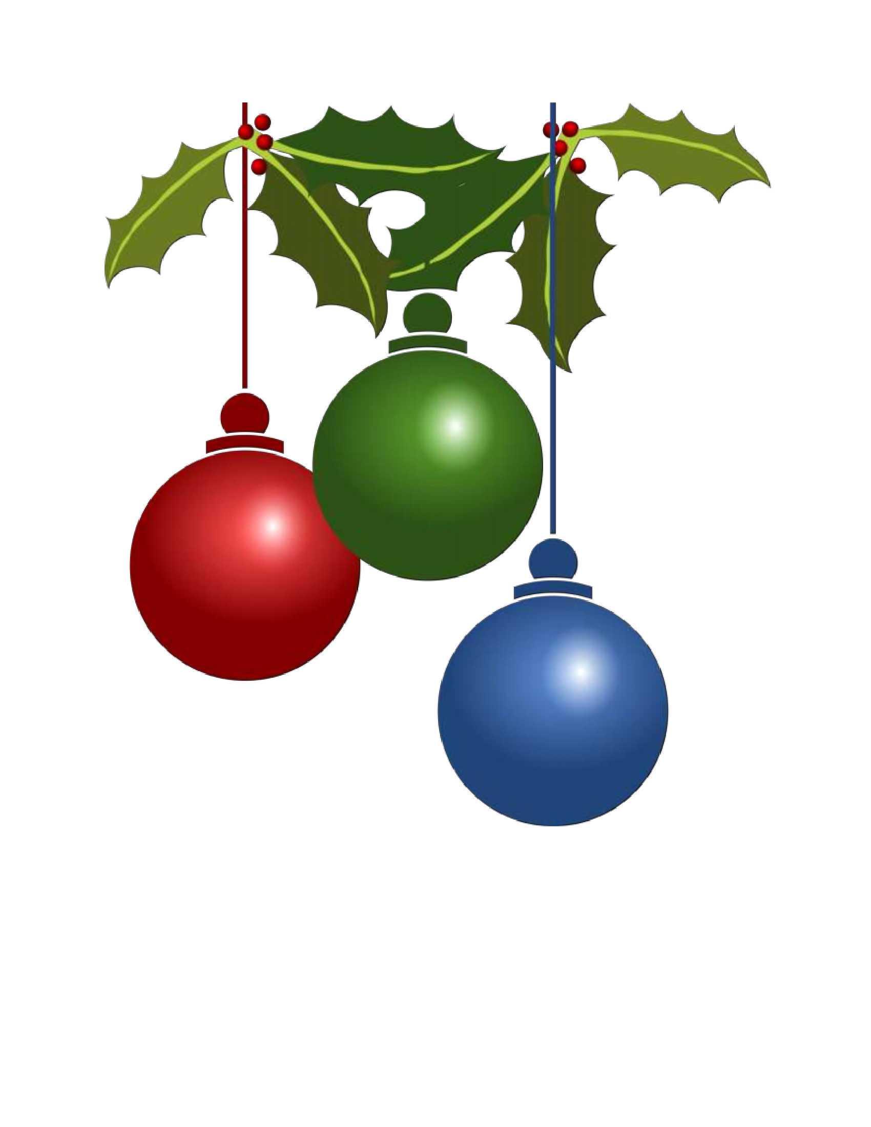 10 vintage Christmas ornament clip art pastel color retro.