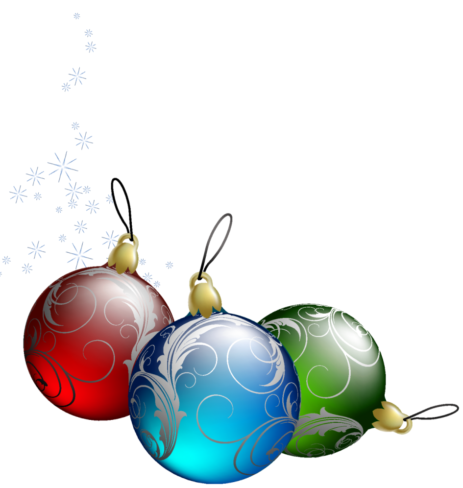 Holiday Ornaments Clipart.
