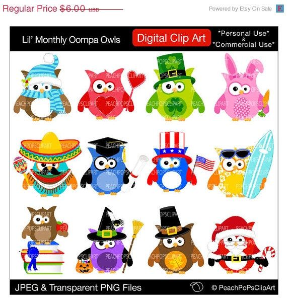 holiday owl clipart 10 free Cliparts | Download images on ...