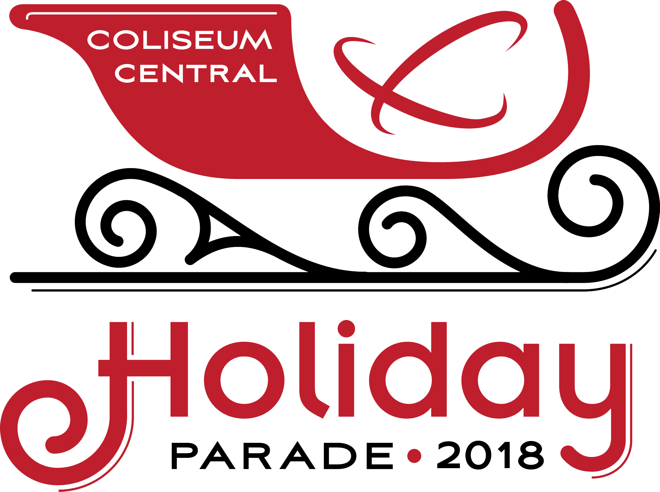 2018 Coliseum Central Holiday Parade Logo.