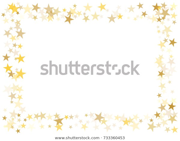 Gold Flying Stars Confetti Magic Christmas Stock Vector (Royalty.