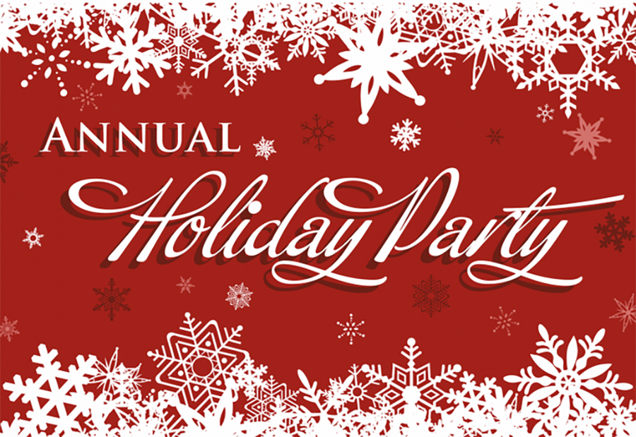 Annual Holiday Party Sign Clipart.