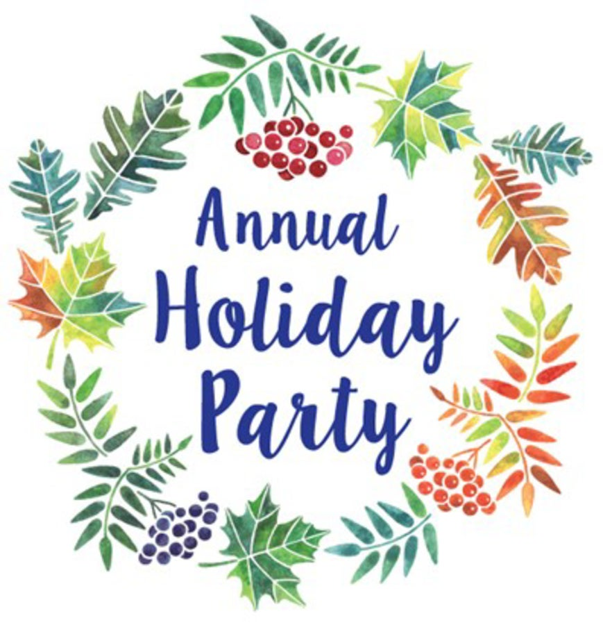Annual Holiday Party Clipart.