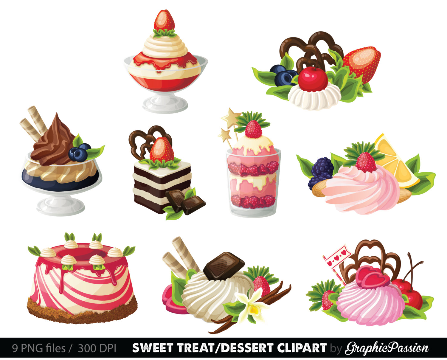 Holiday pastries clipart - Clipground