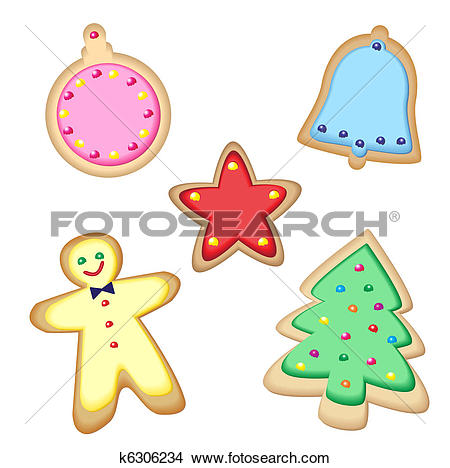 Clipart of Cute Christmas cookies k2736232.