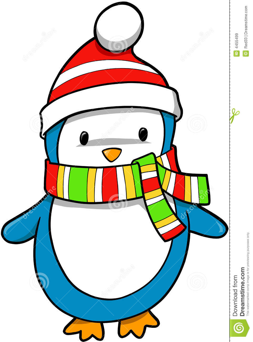 Holiday Penguin Clipart.