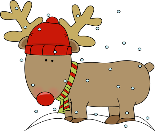 Holiday Reindeer Clip Art.