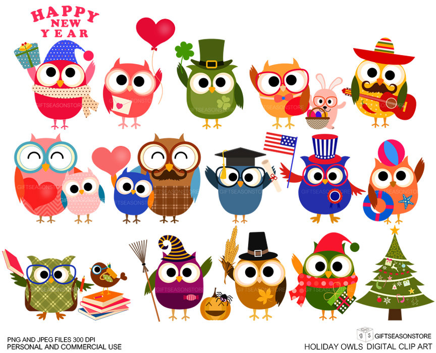 Monthly Holiday Clipart.
