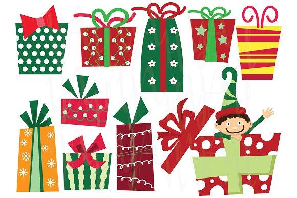 Christmas Presents Clip Art ~ Illustrations on Creative Market.
