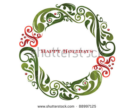 Christmas Wreath Stock Images, Royalty.