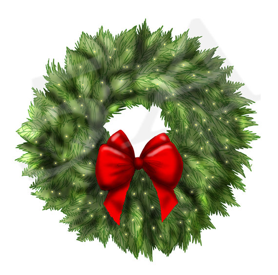 Christmas Wreath Clipart Clip art, Wreath clipart, Xmas Wreath.