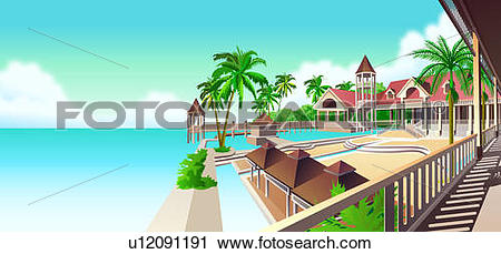 Holiday resort clipart #14