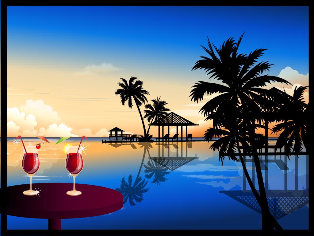 Holiday resort clipart #6