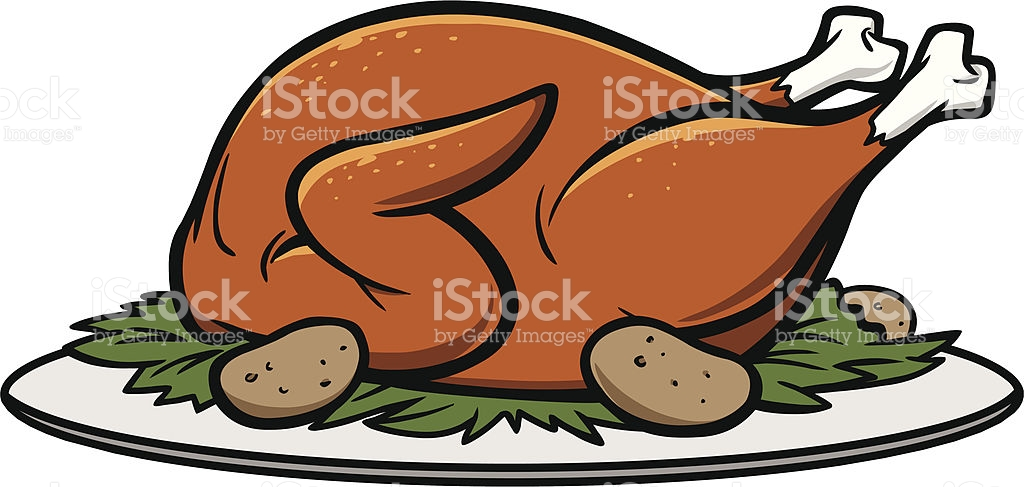Roast Turkey Dinner stock vector art 165943933.