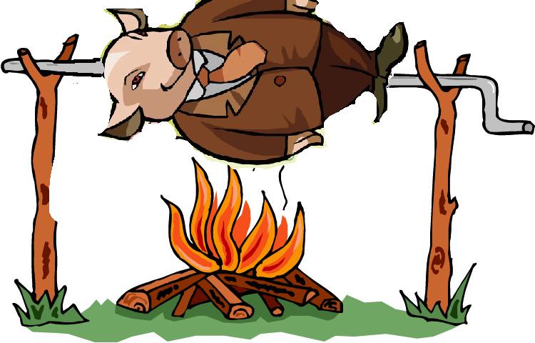 Pig Roast Clipart.
